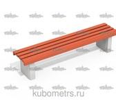 Изображение в Мебель и интерьер Мебель для прихожей Антивандальные лавочки бетонные со спинкой в Москве 9500