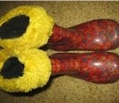 Изображение в Для детей Детская обувь продам резиновые сапоги с меховой вставкой в Томске 300