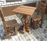 Фотография в Мебель и интерьер Мебель для дачи и сада Цена со скидкой ! Комплект стол и две лавки в Москве 15000