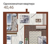 Foto в Недвижимость Квартиры АКЦИЯ! ПОЛНОЦЕННАЯ КВАРТИРА ПЛОЩАДЬЮ 40,46 в Новосибирске 1650000