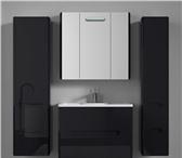 Изображение в Мебель и интерьер Мебель для ванной Комплект мебели VOD-OK Флорена- 80 чёрный в Москве 0