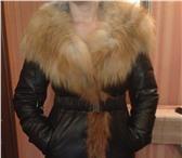 Фотография в Одежда и обувь Женская одежда продаю женский теплый кожанный пуховик капюшон в Якутске 18000